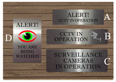 Vital Signs: Surveillance CCTV in Operation Signs in Silver, Gold or White