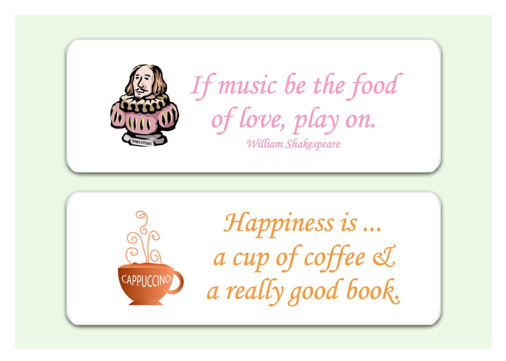 Wise Words Motivational Plaques, Signs or Bookmarks from Honeymellow