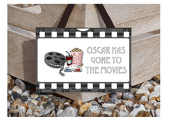 Gone to the Cinema Personalised Custom Made Sign: Only online at Honeymellow