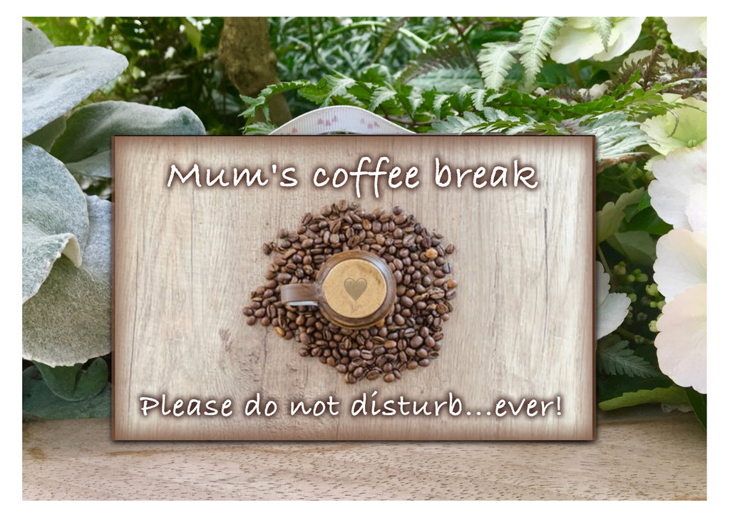 Bespoke Personalised Coffee Quote or Message Signs in Wood or Metal.  Handmade at www.honeymellow.com