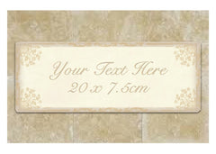Cream Damask Bespoke Sign: Add Your Own Text at Honeymellow