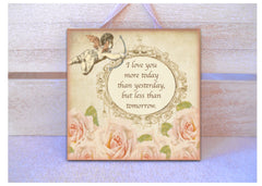 Cupid & Roses Custom Made Personalised Sign from www.honeymellow.com