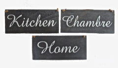 Parisian Rustic Black & White Signs at Honeymellow
