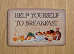 Help Yourself to Breakfast Personalised Metal Sign Buy Online at www.honeymellow.com