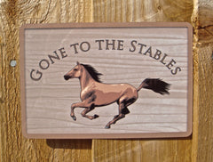 Gone to the Stables Personalised Metal Sign Buy Online at Honeymellow