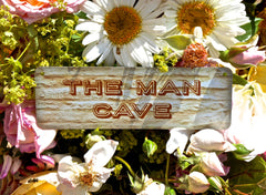 Man Cave Wood or Metal Personalised Sign at Honeymellow