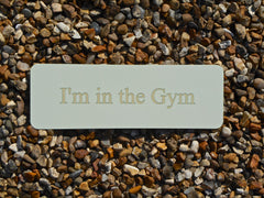 Cream Coloured Custom Made Blank Personalised Plaque at Honeymellow