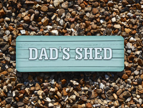 Personalised Man Shed or Add Your Own Text Rustic Wood Effect Signs in Wood or Metal
