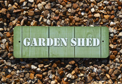 Man Cave, Shed, Summerhouse, Greenhouse Wood or Metal Personalised Sign at Honeymellow