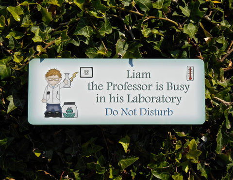 Personalised 'Professor' Bedroom Door Sign: Boy and Girl Designs