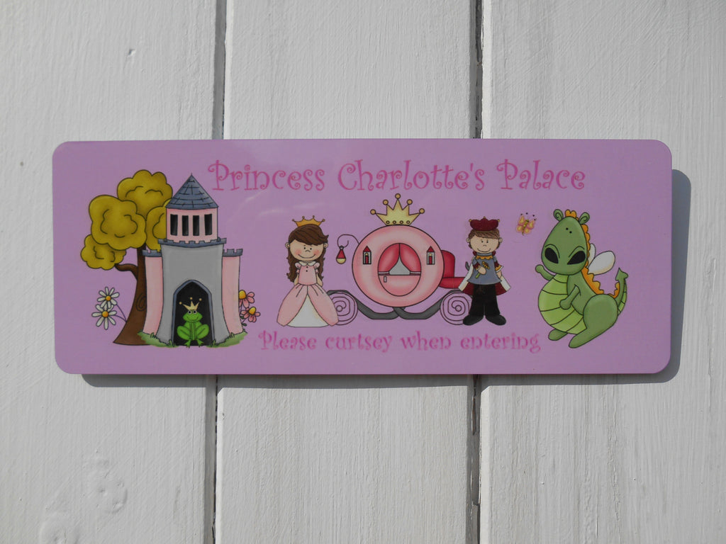 Princess Palace Personalised Children's Bedroom Custom-Made Sign at Honeymellow