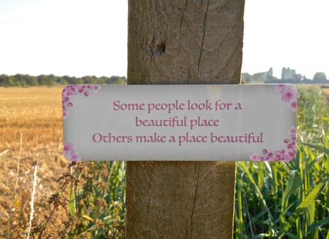Add Your Own Text to Cherry Blossom Design Sign in Wood or Metal