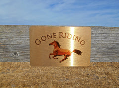 Gone Riding Personalised Metal Horse Sign