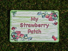 My Strawberry Patch Plus Personalisation, Custom-Made Metal Sign from www.honeymellow.com