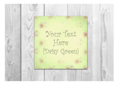 Bespoke Blank Daisy Shabby Chic Signs: Add Your Own Text to Personalise at Honeymellow