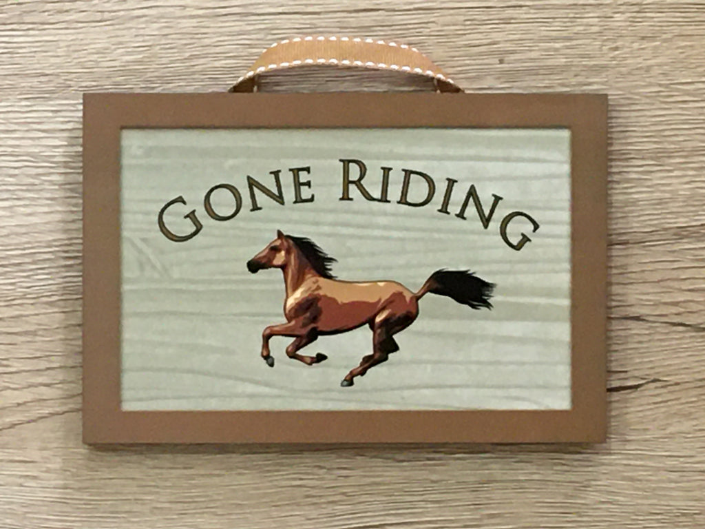 Gone to the Stables Personalised Metal Horse Sign