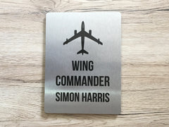 Aeroplane Personalised Door Sign for Bedroom or Gaming Room