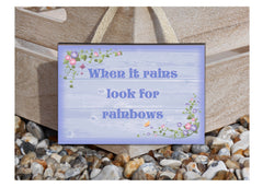 Add Your Own Text to Field Flowers Wood or Metal Personalised Sign at www.honeymellow.com