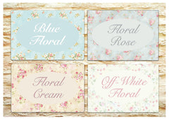 Floral Cottage Chic Bespoke Signs for Personalisation at www.honeymellow.com