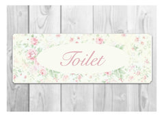 TOILET FLORAL COTTAGE CHIC SIGN AT HONEYMELLOW