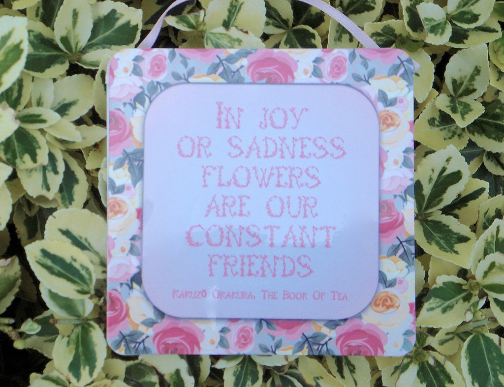 Friends & Flowers Inspiring Quotation: Garden Metal Sign - Buy a Unique Gardening Gift Online only at Honeymellow