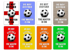 Football Do Not Disturb Metal Sign: Add Own Text to Personalise - Only Online at Honeymellow