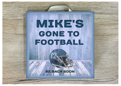 American Football Metal or Wood Personalised Square Sign