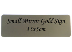 Personalise Small Mirror Gold Sign at Honeymellow