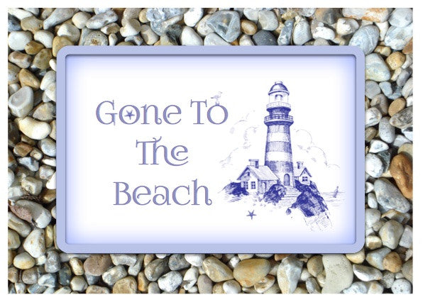 Gone to the Beach Personalised Custom Made Sign: Only online at Honeymellow