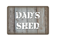 Dad's Shed Personalised Rustic Bespoke Sign at www.honeymellow.com