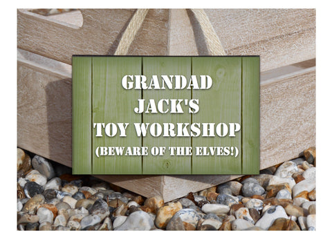 Rustic Green Wood Effect Personalised Man Shed or Add Your Own Text  Signs in Wood or Metal