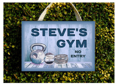 The Gym Room Personalised Rustic Fitness Studio Metal or Wood Sign