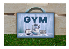 Gym Fitness Room Rustic Metal or Wood Door or Wall Sign: Buy online only at www.honeymellow.com