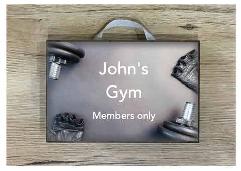 Add Text to Gym Weights Metal or Wooden Personalised Sign
