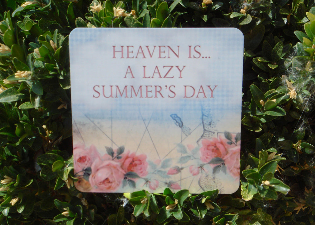 Heaven is a lazy summer's day, garden custom made sign from Honeymellow