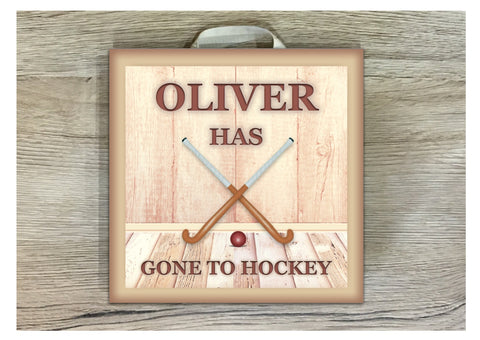 Hockey Metal or Wood Personalised Square Sign