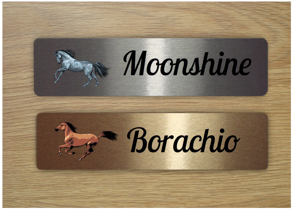 Horse Sign Personalised Metal Stables Custom-Made Bespoke Plaque Handmade at www.honeymellow.com