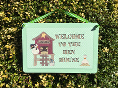 Welcome to the Hen House Animal Custom-Made Sign at www.honeymellow.com