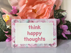 Add your own text to our blush rose metal or wood sign.  Handmade at www.honeymellow.com