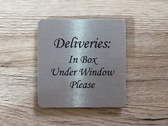 Silver Signs: Add Your Own Text Blank Metal Plaques - Small and Large Sign Sizes