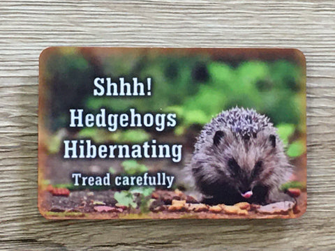 Add Text to Hedgehog Photo Blank Sign in Wood or Metal