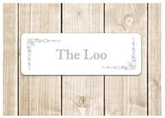 Bespoke Bathroom and Room Plaques: Silver Design at Honeymellow