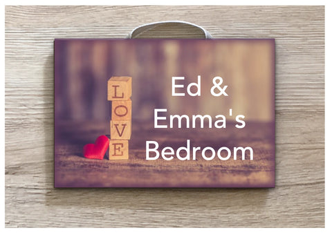 Add Text to our Building Brick Love Sign in Wood or Metal