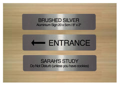 Brushed gold blank sign to personalise.  Add your own text to customise at Honeymellow