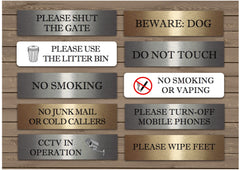 No Smoking, Litter, CCTV  Ring Bell + Add Own Text Metal Vital Signs from www.honeymellow.com