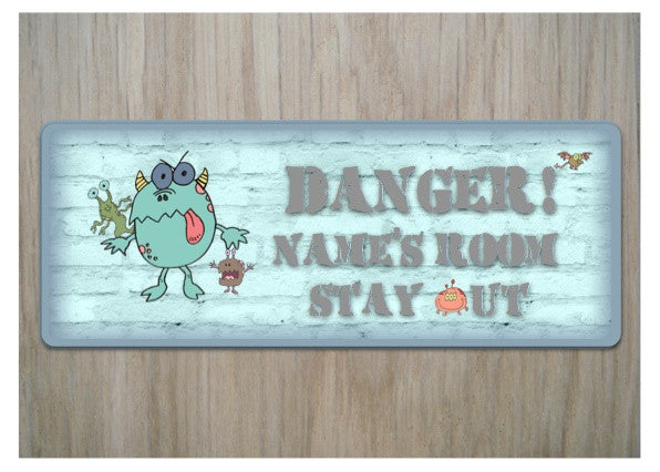 Children's Monster Bedroom Door Sign from Honeymellow