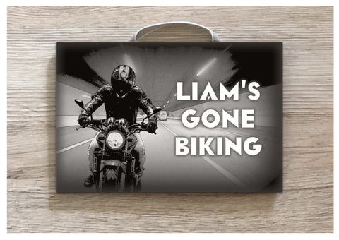 Motorcycling Metal or Wooden Personalised Sign