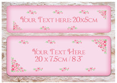 Pink Roses Shabby Chic Custom- Made Vintage Sign at Honeymellow
