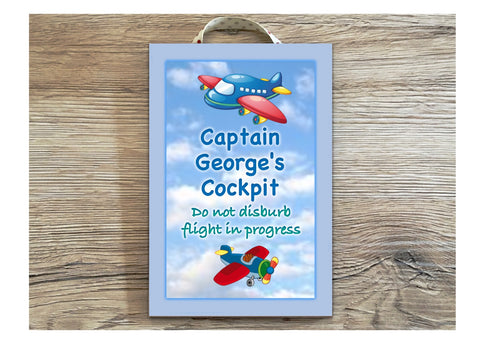 Aeroplane Children's Bedroom Sign