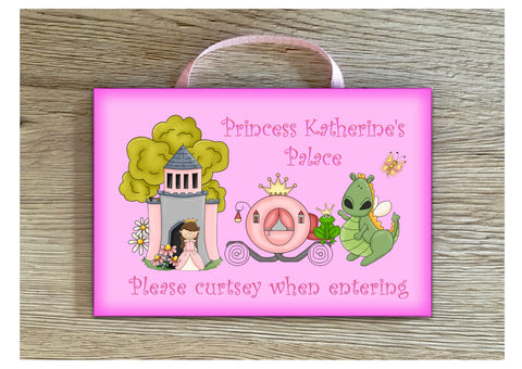 Personalised Princess's Palace Bedroom Door Sign